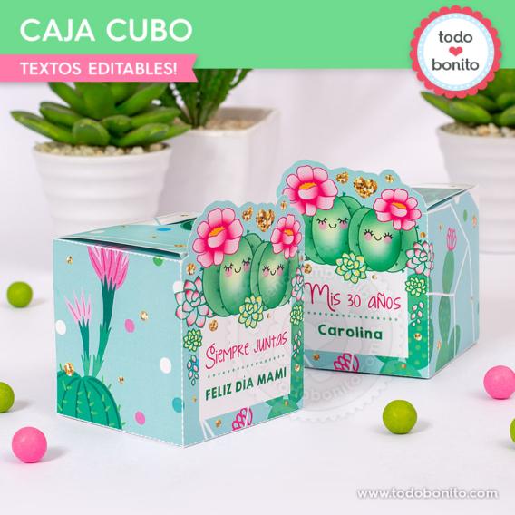 Cajas para imprimir de cactus