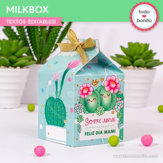Milkbox para imprimir de cactus
