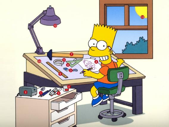 Aprende a dibujar a los Simpson