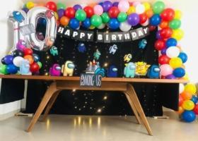Ideas de pasteles y decoración fiesta Among Us