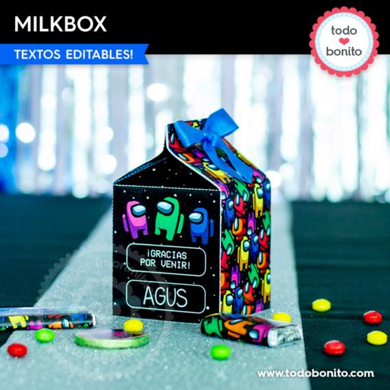 Milkbox de Among Us para imprimir