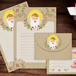 Papeles de carta y sobre para escribir al Niño Jesús
