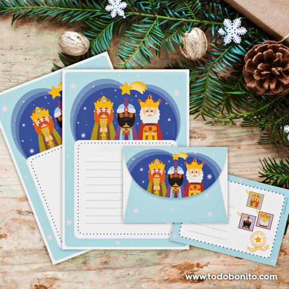 Papeles de carta para escribir a los Reyes Magos