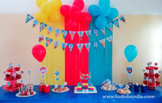 Mesa de cumpleaños Paw Patrol