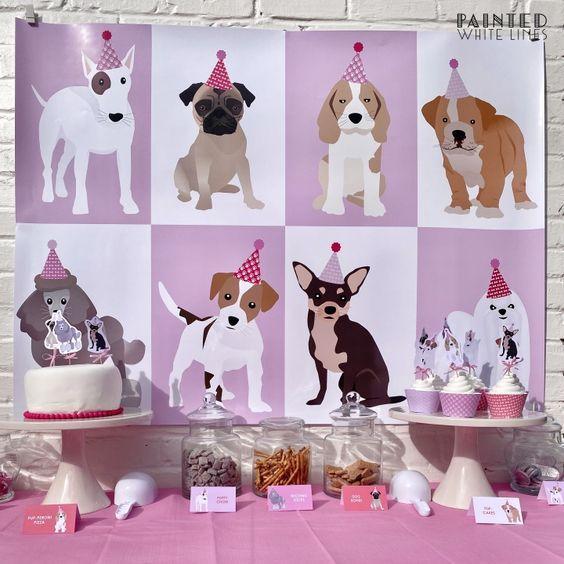 Ideas mesa dulce fiesta temática de perritos