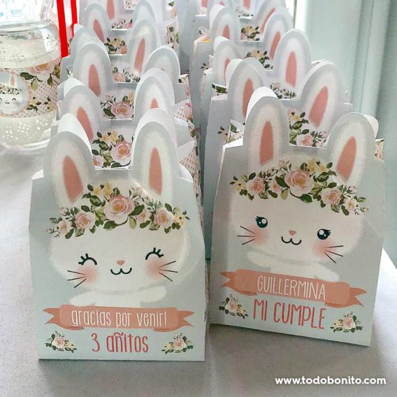 Bolsitas decoradas kit imprimible conejita Todo Bonito