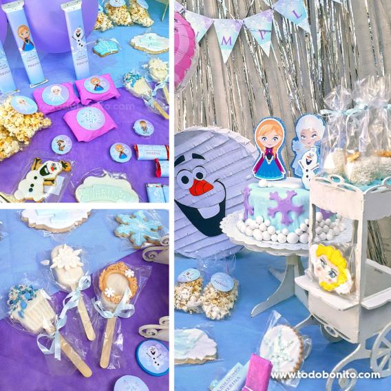 Cumpleaños decorado con diseños de Frozen de Todo Bonito