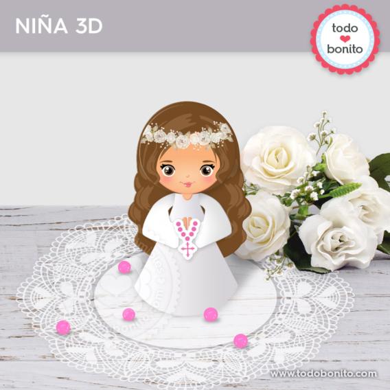 """Niña 3D para imprimir modelo """"Justina"""""""
