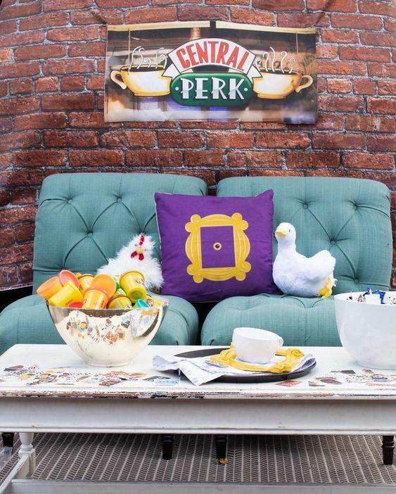 Ideas decoración de fiesta serie tv Friends