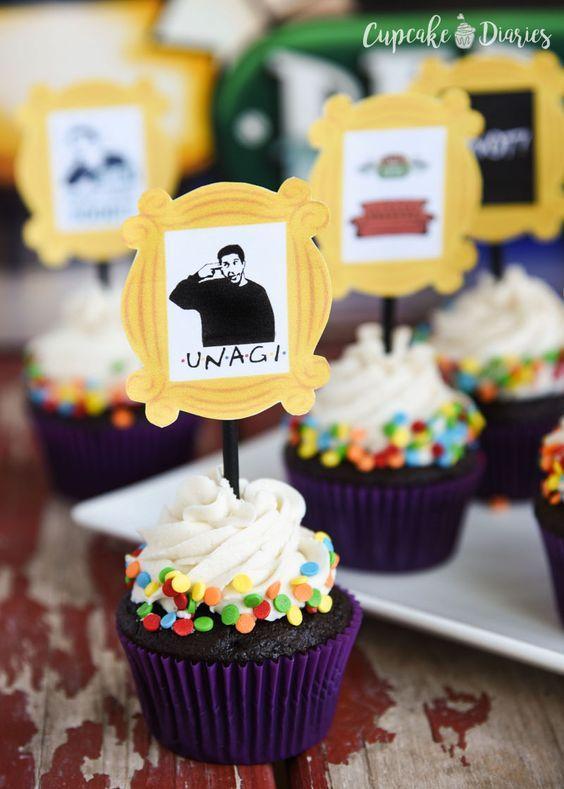 Ideas cupcakes serie tv Friends