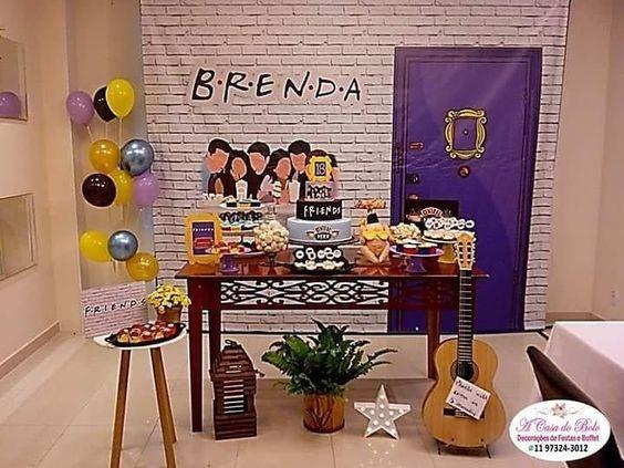 Ideas decoración cumpleaños serie tv Friends