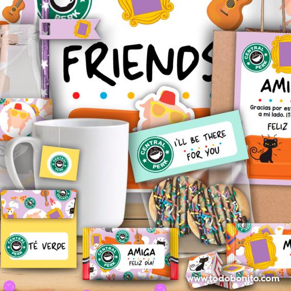 Kit imprimible desayuno serie Friends