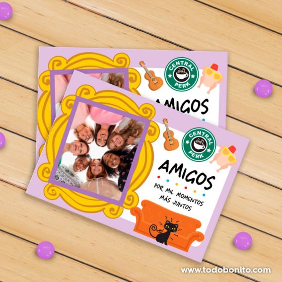 Tarjetas para imprimir serie Friends