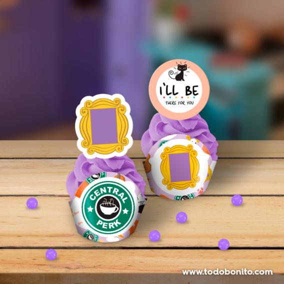 Portacupcakes para imprimir serie Friends