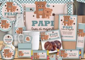 """Kits imprimibles para desayunos modelo """"Papá Oso"""""""