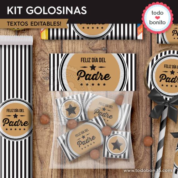 """Kit imprimible desayuno modelo """"Labels"""""""