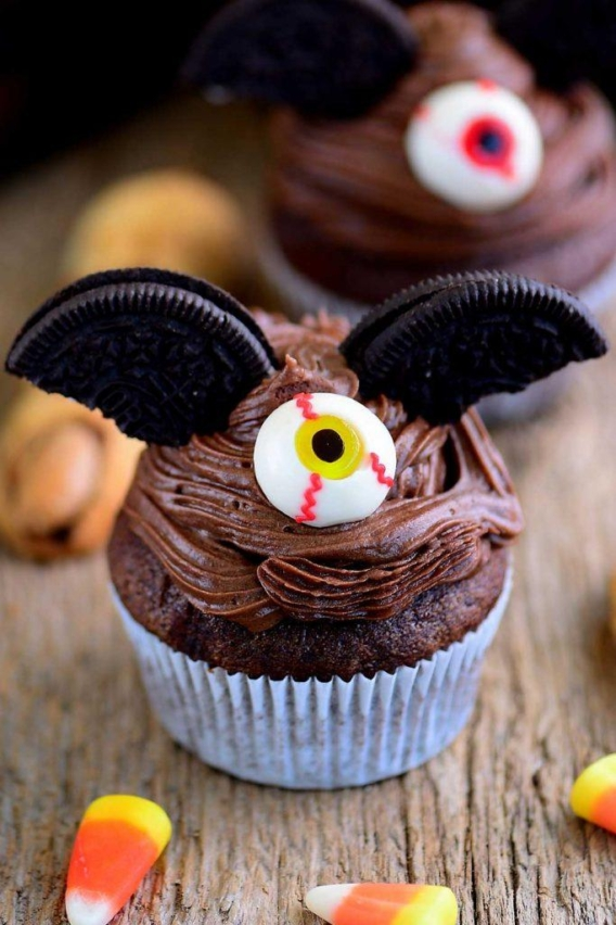 Cupcakes para Halloween con oreos