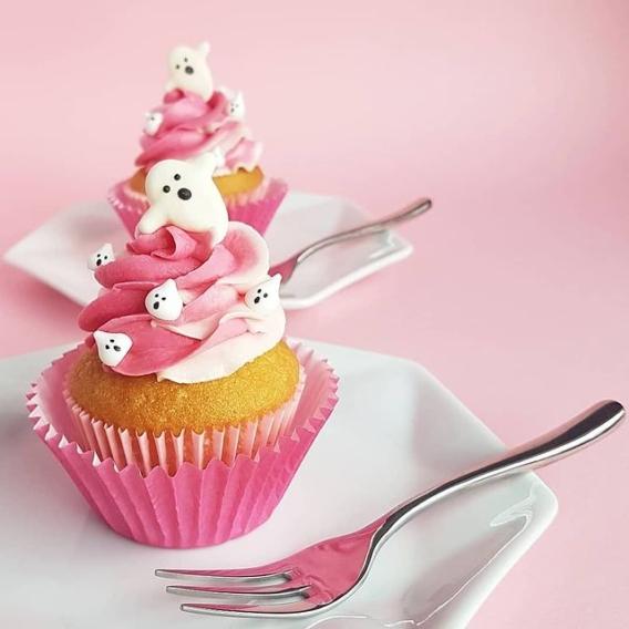 Cupcakes decorados para Halloween tiernos fantasmitas
