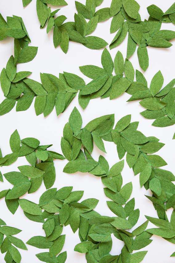 Cómo hacer una guirnalda de hojas de papel