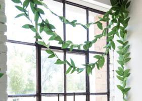 Guirnalda de hojas de papel paso a paso