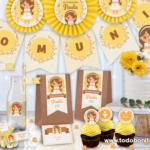 Kits imprimibles de Primera Comunión para niñas