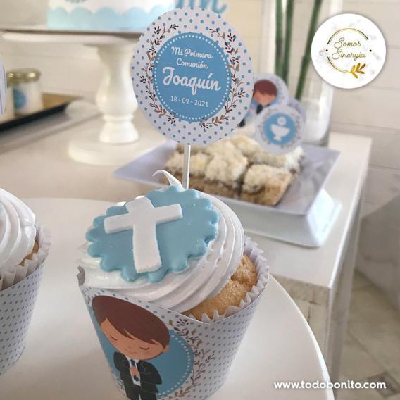 Cupcakes de Primera Comunión de niños