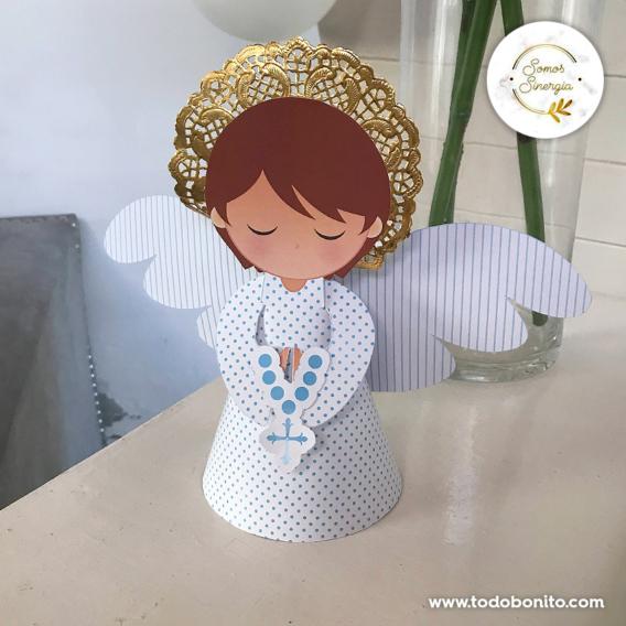 Angel de Primera Comunión de niños para imprimir