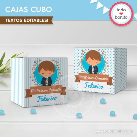 Cajas para souvenirs Primera Comunión para niños