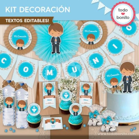 Kit decoración Primera Comunión para niños